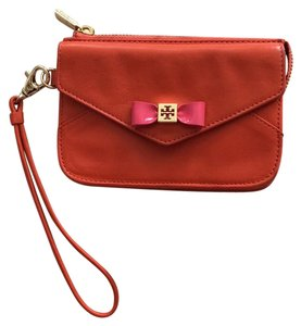 Tory Burch Orange and pink Clutch