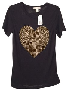 Forever 21 T Shirt black and gold