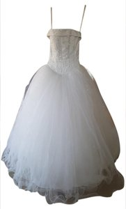 Michelangelo Tulle Wedding Dress W/ Corseted Satin Bodice Nt8017 Wedding Dress