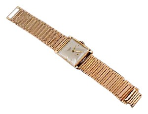 Geneve Universal Geneve Vintage 18K Rose Gold Watch w/Square Face