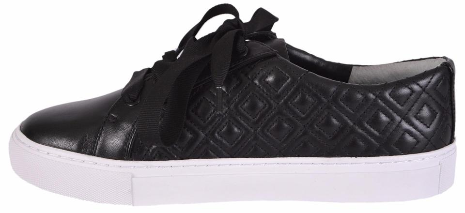 c4d949fb7 Tory Burch Black Marion T New Women s Quilted Leather Logo Sneakers Flats  Size US 8 Regular (M