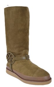 Tory Burch Suede Tall Snow Snow Green Boots