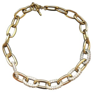 Kenneth Jay Lane Crystal Link Necklace