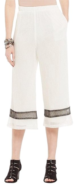 Preload https://item3.tradesy.com/images/white-black-lined-mesh-cropped-pants-capris-size-22-plus-2x-20819697-0-1.jpg?width=400&height=650