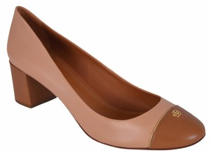 Tory Burch Tan Heels Multi-Color Pumps