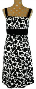 Max and Cleo short dress Black & White Floral Print on Tradesy