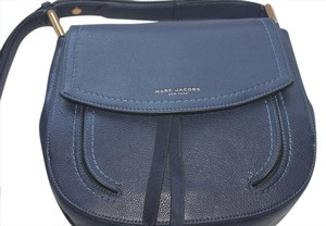 Marc Jacobs Crossbody Tonal Stitching Flap Front Navy Blue Shoulder Bag