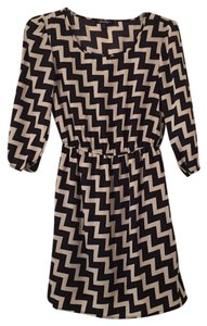 Be Bop short dress black and beige on Tradesy