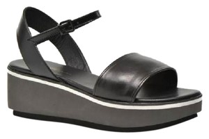Robert Clergerie Platform Black Sandals