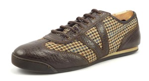 Louis Vuitton Louis Vuitton Men's Shoes Leather & Tweed Sneakers Go0078