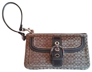 Coach Classic Leather Wristlet in Brown