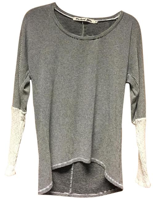 Preload https://item2.tradesy.com/images/michael-stars-creamblack-hilow-striped-sweaterpullover-size-os-one-size-20820036-0-1.jpg?width=400&height=650