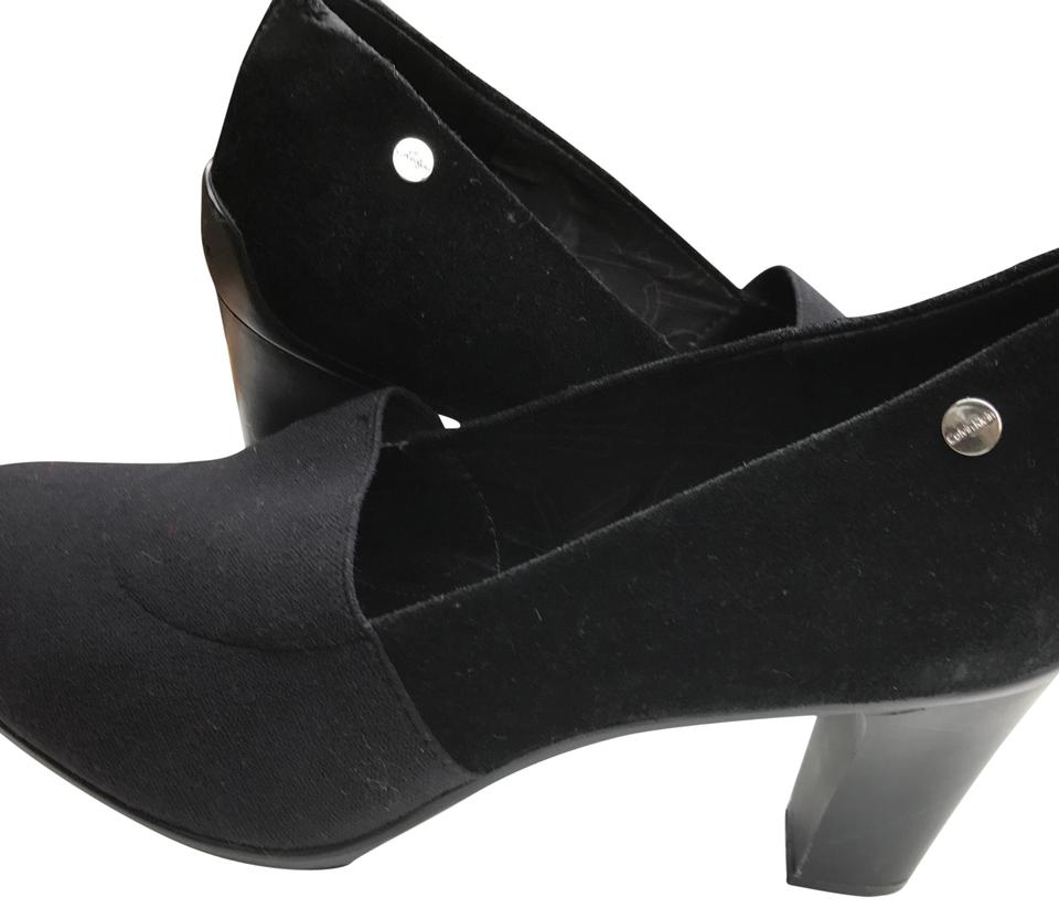 8288d408c06 Calvin Klein Black Suede Leather with Joining Fabric Pumps. Size  US 9 ...