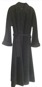 Cinzia Rocca Plush Wool Belted Italian Trench Coat