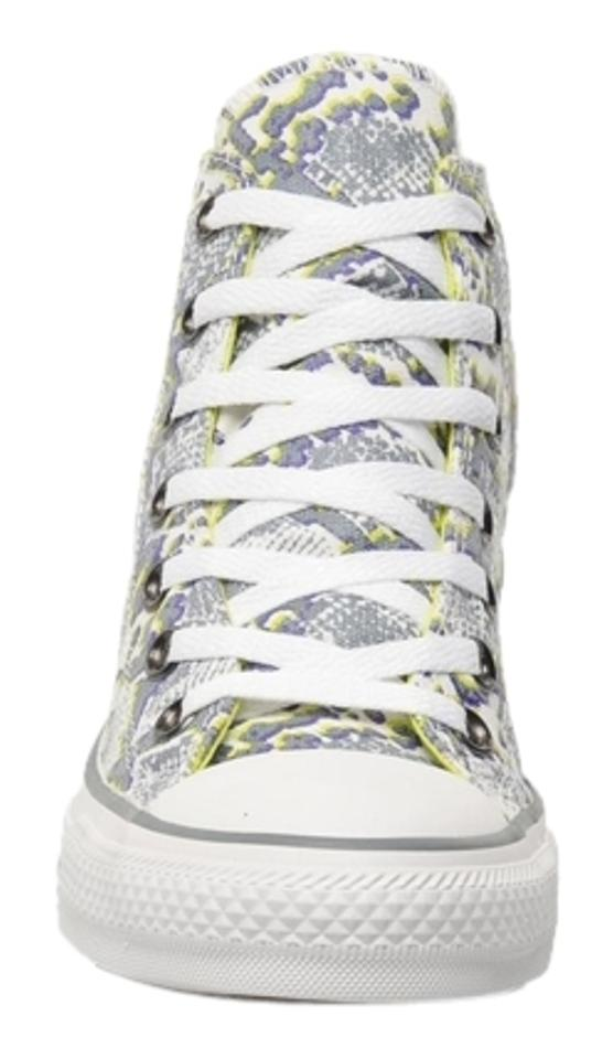 303db9948138 Converse Chuck Taylor All Star High Top 5.5 Snakeskin Gray white yellow  Athletic Image ...