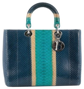 Dior Christian Python Tote in Blue