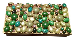Prada Gemstones Timeless Unique green and white Clutch