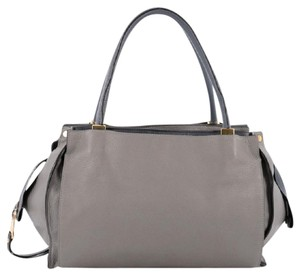 Chloé Chloe Leather Tote in Grey and Blue