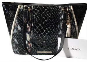 Brahmin Tote in Black Carlise