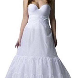 David's Bridal White Plus Size: A-line Medium Fullness 2-tier Slip