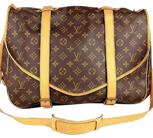 Louis Vuitton Lv Saumur Gm Monogram Lv Messenger Lv Crossbody Neverfull Gm Brown Messenger Bag