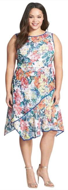 Preload https://img-static.tradesy.com/item/20820379/adrianna-papell-white-multi-floral-print-asymmetrical-fit-and-flare-22w-mid-length-workoffice-dress-0-1-650-650.jpg