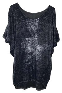 Free People T Shirt black and grey