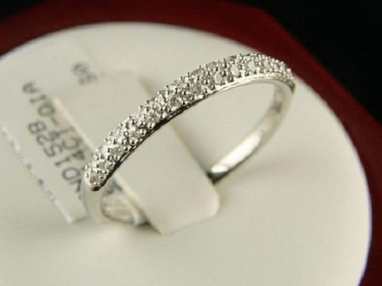 Other 14K Ladies White Gold Domed Pave Band Diamond Ring