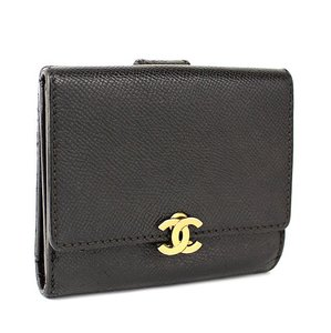 Chanel Auth Chanel Caviar CC Wallet with Authenticity card