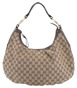 Gucci Canvas Hobo Bag