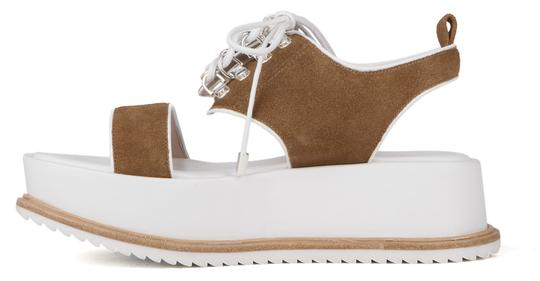 Other Leather Western Edgy Wedge Fawn Platforms