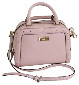Kate Spade Pink Leather Studded Cross Body Bag