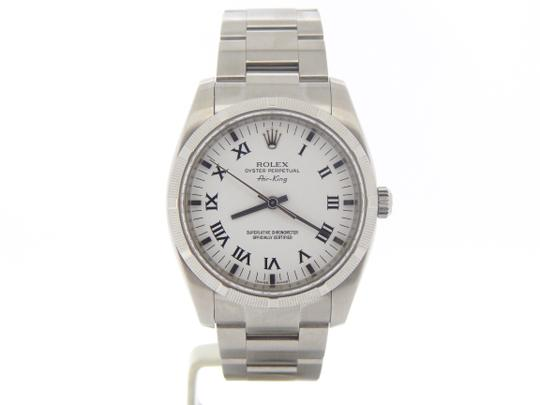 Preload https://item1.tradesy.com/images/rolex-white-mens-stainless-steel-air-king-roman-114210-watch-20820605-0-2.jpg?width=440&height=440