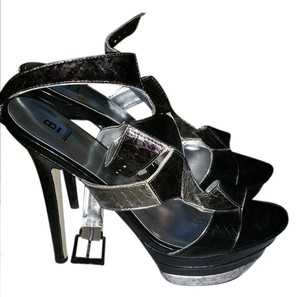 Bakers Black silver Platforms