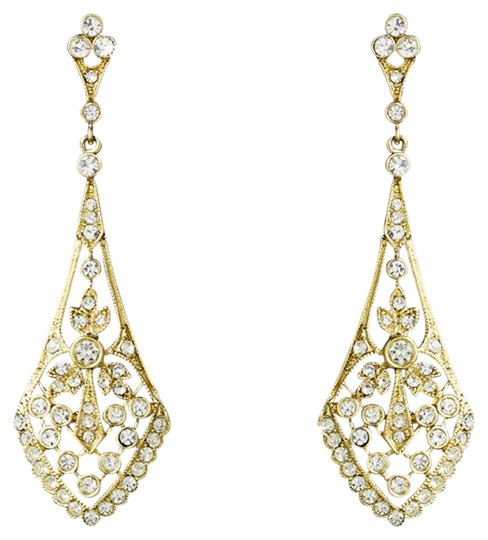 Preload https://item3.tradesy.com/images/elegance-by-carbonneau-gold-clear-cz-crystal-vintage-earrings-20820812-0-2.jpg?width=440&height=440