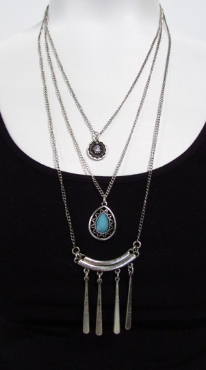 Other Silver Tone Graduated Layered Necklace
