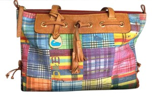 Dooney & Bourke Satchel in Spring plaid