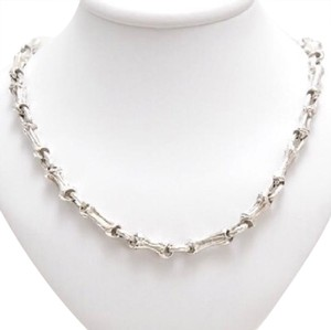 Tiffany & Co. Rare Sterling Silver Fragmented Bamboo Motif Necklace