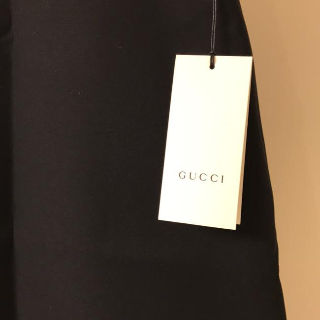 Gucci A-line Classic Office Web Skirt black