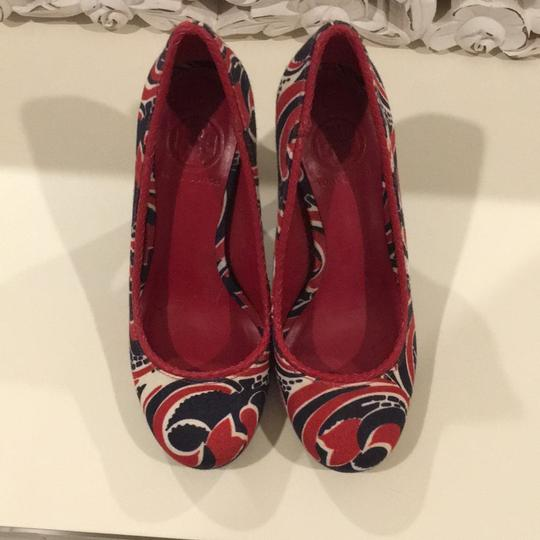 Tory Burch Red, navy, white Pumps