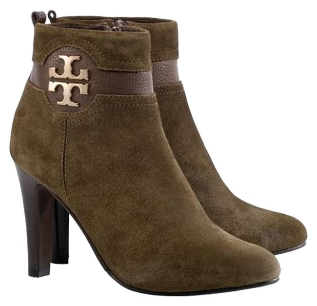 Item - Olive Green Alaina with Gold Logo Boots/Booties Size US 7 Regular (M, B)