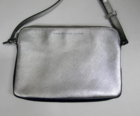 Marc by Marc Jacobs Marcbymarcjacobs Leather Purple/Silver Two-tone Cross Body Bag