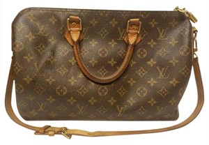 Louis Vuitton Lv Bandouliere Speedy 35 Canvas Satchel in monogram