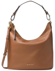 Michael Kors Bedford Belted Luggage Lerge Venus Leather Shoulder Bag