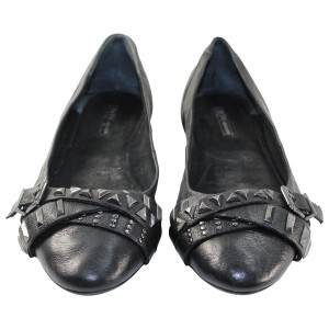 BCBGeneration Leather Pre-owned Black Flats