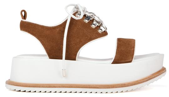 Matisse Vintage Leather Suede Lace Fawn Platforms
