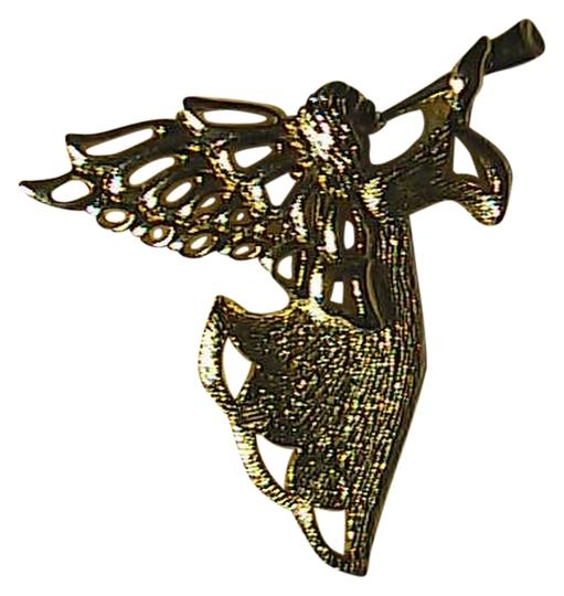 Gerry's Gerry's Gold Tone Angel Trumpet Pin Brooch