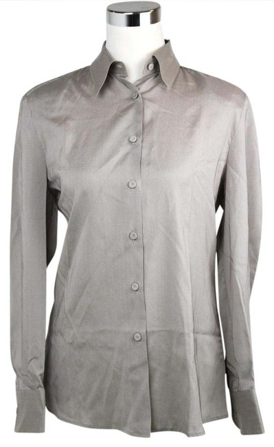 Bottega Veneta Womens Shirt Shoulder Pads Button Down Shirt Light Brown