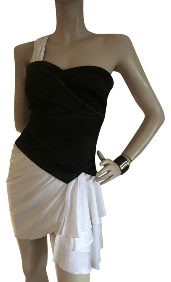 Bebe Black And White Short Night Out Dress Size 4 S Tradesy