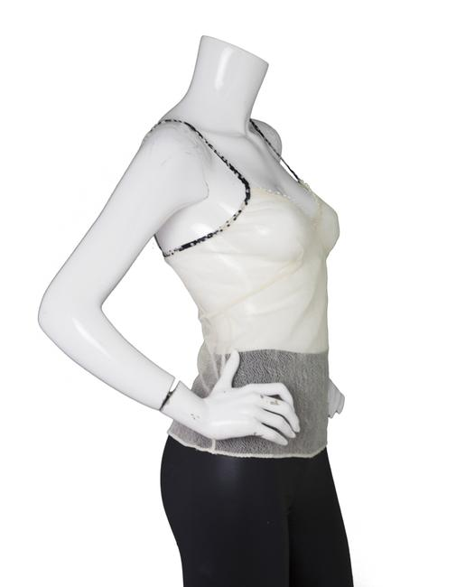 Chanel Mesh Lace Camisole Top Beige